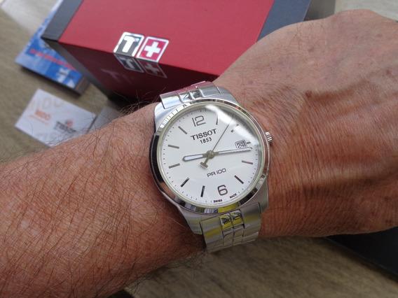 Excelente Relógio Tissot Pr 100 - T049410b - De 715, P/650,