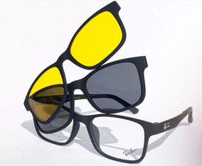 5d004e30e Armação Oculos Grau Sol Masculino Rb2088 2 Clip On Brinde. R$ 89