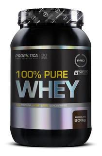 100% Pure Whey 900g - Probiótica - Chocolate - Frete Grátis