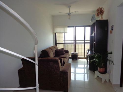 Apartamento Duplex Com 2 Dormitórios À Venda, 123 M² Por R$ 270.000 - Balneário Maracanã - Praia Grande/sp - Ad0013