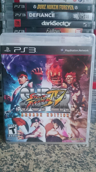 Super Street Fighter Iv Arcade Edition Ps3 Frete Incluso