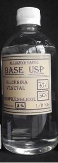 Base 500 Ml 2% N Sinaroma Vapeo Glicerina Usp Propilenglicol