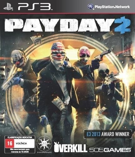 Jogo Payday 2 Playstation 3 Ps3 Original Mídia Física Game