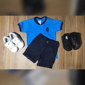 Camiseta Botoes / Bermuda Color / Tenis Old Prince
