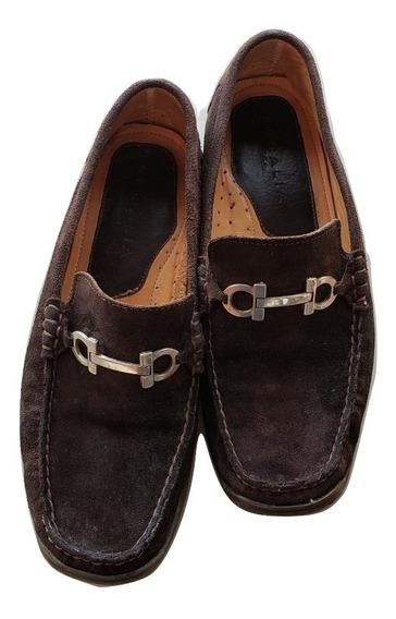 Zapatos Mocasines Escalia Colletion Cafe