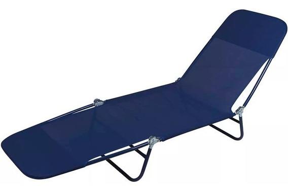 Cadeira Espreguiçadeira Aço Textilene Praia Piscina - Mor