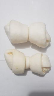 Hueso De Cuero Blanco X 2 Unidades 4/5 Golosina Perro