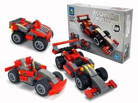 Brinquedo Menino Fórmula 1 Carro Jeep Bloco De Montar 3 Em 1
