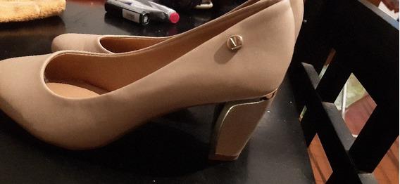Zapato Vizzano Talle 38/39 Color Nude Un Solo Uso