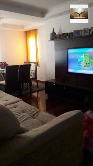 Apartamento Com 03 Dormitórios , 02 Vagas De Garagem Residencial À Venda, Campestre, Santo André. - Ap0110