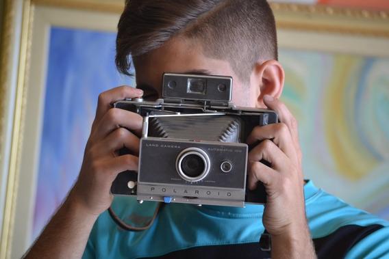 Câmera Antiga Polaroid Land Automatic 100 Colecionar Americana Ano 1960 C/fole