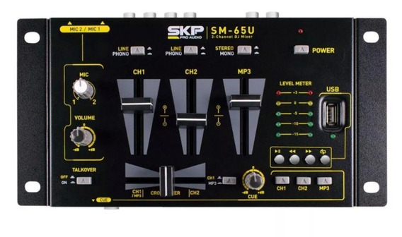Dj Mixer Stéreo Skp Com Mp3 Player Sm65u