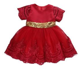 Vestido De Menina Infantil Luxo P Festas Tule Bordado