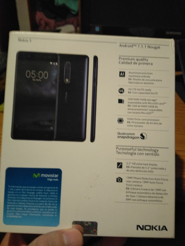 Celular Nokia 5 En Su Caja En Excelentes Condiciones