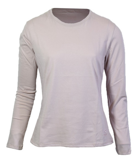 Remera Topper Basica Ml Mujer Pink