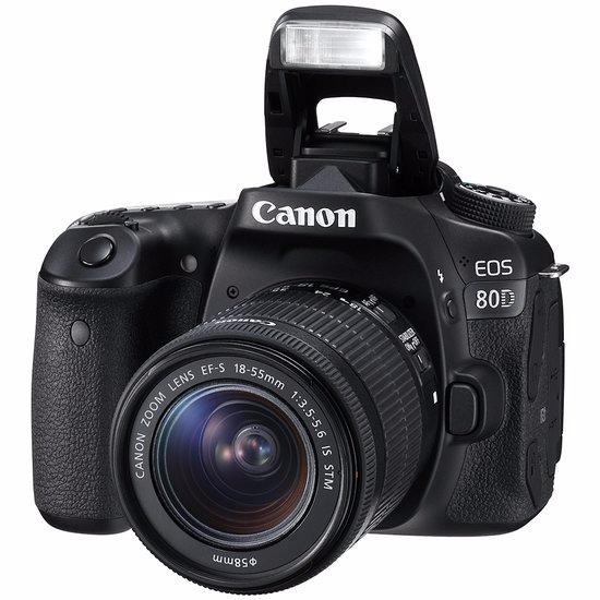 Câmera Profissional Canon Eos 80d Com Lente 18-55mm Is Stm