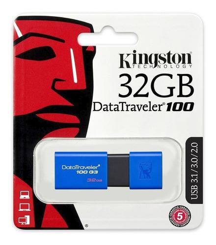 Pendrive Usb 3.1 Kingston Datatraveler 100 G3, 32gb - Otec