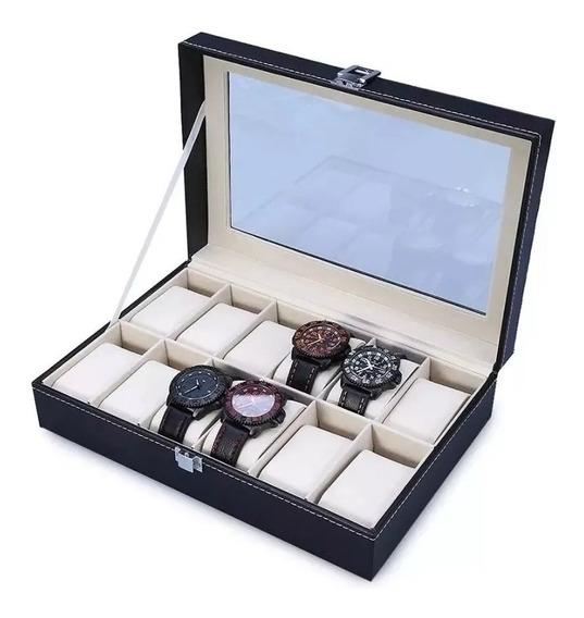 Estuche Exhibidor 12 Relojes Reloj Con Almohadillas Relojero