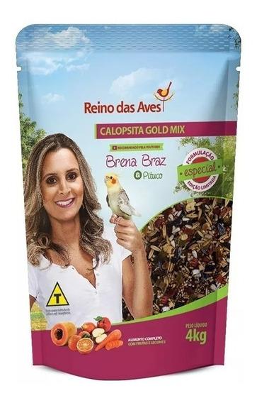 1 Ração Calopsita Gold Mix 4kg - Reino Das Aves