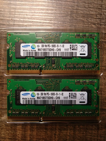 Memória Ram 4gb (2x2gb) 10600r Ddr3 Macbook