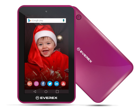 Tablet Everex Wifi Quad-core 1gb 8gb Android Micro Sd Rosa