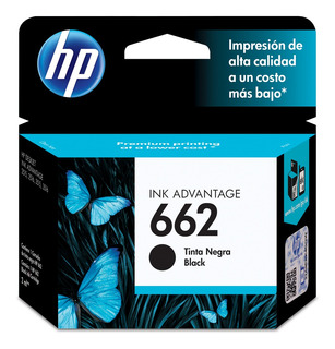 Cartucho De Tinta Hp 662 Negra