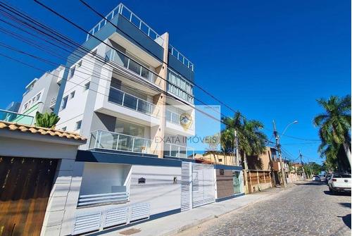 Apartamento Com Elevador, Próximo A Orla De Costazul/ Rio Das Ostras! - Ap0412