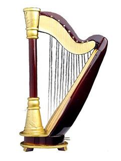 Arpa 18nota W Caso Caja De Música Réplica Instrumento Music