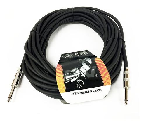 Cable De Cornetas Bafle Dj Audio 1/4 Mono 14g 15,2m Peavey