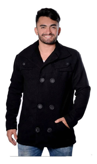 Casaco Masculino De Lã Batida Jaqueta Transpassada Para Frio