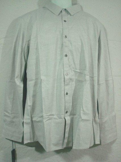 Camisa Marc Anthony Gris Con Ovalos Talla L Slim Fit