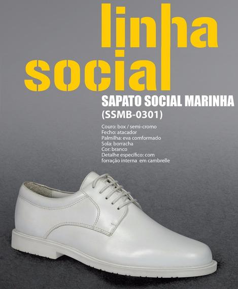 Sapato Social Marinha Branco Enfermeiro Medico 46/47/48/49