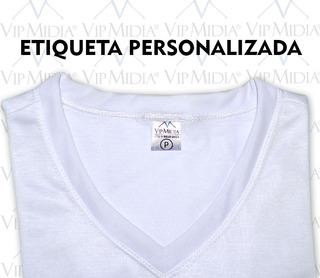 Camisa Malha Pp Para Sublimação Com Etiqueta Personalizada