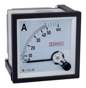 Amperimetro Analógico Para Uso Com Tc 96x96mm Sibratec