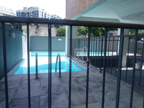 Apartamento Com 2 Dormitórios À Venda, 65 M² Por R$ 350.000,00 - Santa Rosa - Niterói/rj - Ap1178