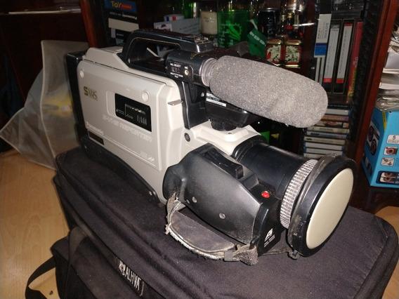 Câmera Filmadora Super Vhs Ag455 + Acessórios