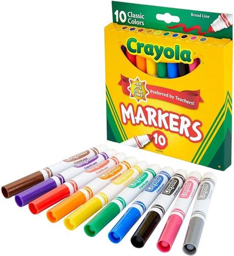 Crayola Supertips 10 Plumones Gruesos Lettering