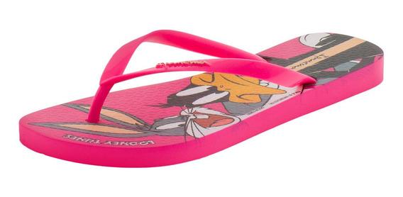 Chinelo Feminino Looney Tunes Ipanema - 26433 Rosa