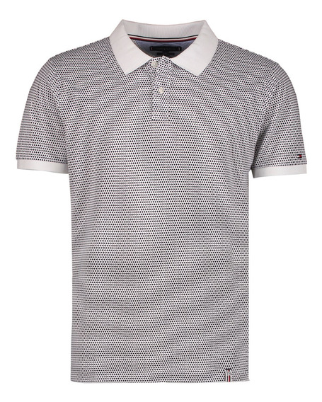 Polo Slim Fit Tommy Hilfiger Blanco Mw0mw10786-100 Hombre