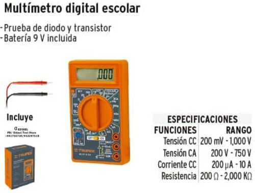 Multimetro Digital Truper