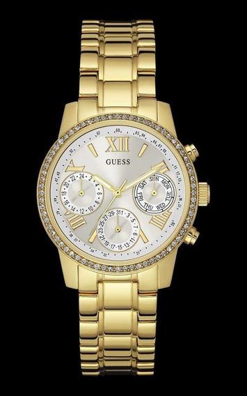 Relógio Guess Feminino Dourado Fundo Branco 92535lpgsda4