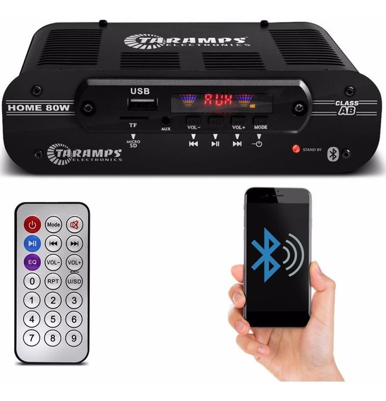 Potência Amplificador De Mesa Compacto Taramps Home 80w Rms
