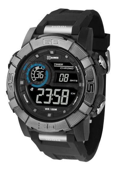Relógio X-games Masculino Digital Xmppd525 Negativo Azul