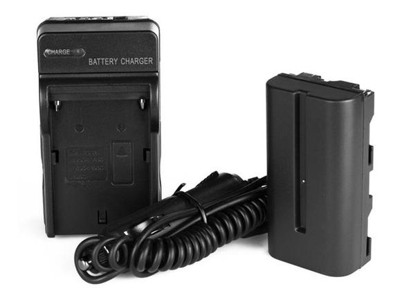 Bateria Np-f550 Para Iluminador Hd 160 Led + Carregador