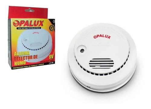 Detector De Humo Con Alarma 9v Opalux Lx-98 + Delivery