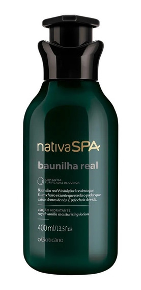 Boticario Nativa Spa Baunilha Real Hidratante 400 Ml