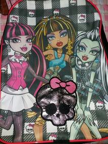 Mochila De Costas Monster High Preto Frankie Draculaura Cleo