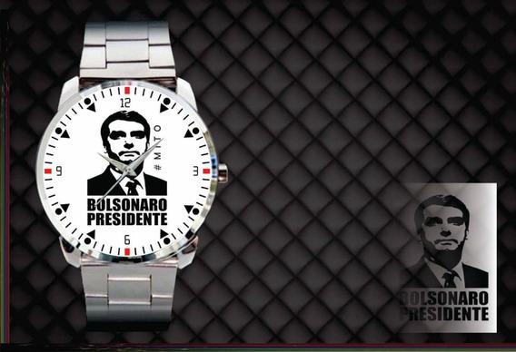 Relógio De Pulso Personalizado Partido Politico Bolsonaro
