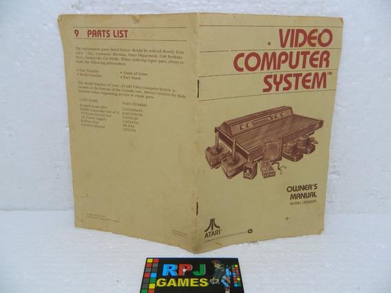 Só O Manual Do Atari 2600 Americano - Loja Centro Rj