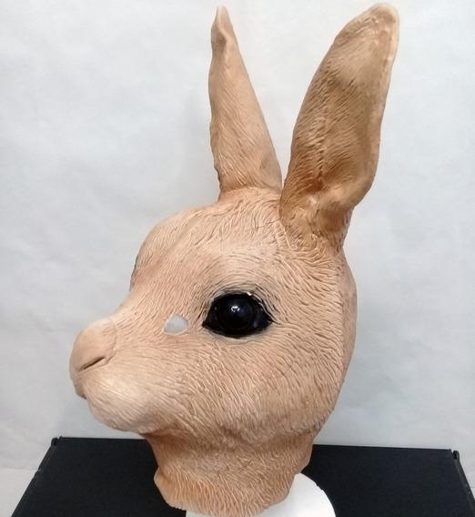 Mascara Latex Conejo Coneja Marron Bugs Bunny Animal Disfraz